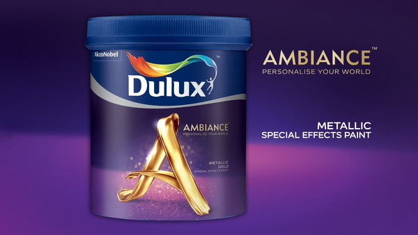 Dulux Ambiance Special Effects Paints (Metallic Gold)
